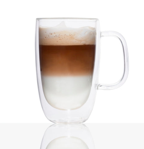 Double-Wall Glass Coffee Mug 325ml Set Of 2 by Brilliant
