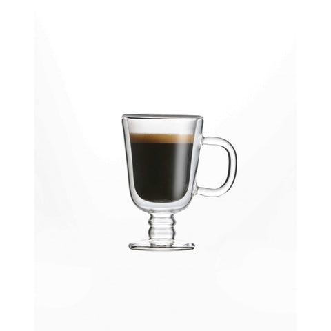 Image of Double Wall Espresso Glass Mug, 2.4 oz. Set of 2, by Brilliant