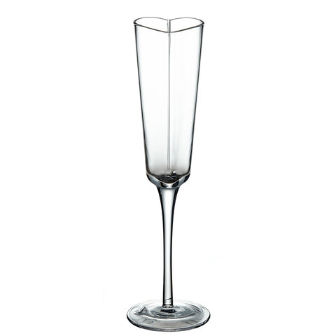 Image of Bubbly Heart Shaped Champagne Glasses on a Tall Stem 5 Ounces, Set of 2
