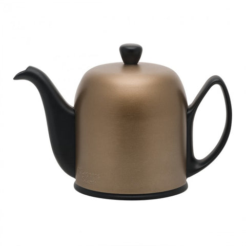 Image of Guy Degrenne Salam Black 6 Cup Teapot with Copper Cover, 33.8oz.