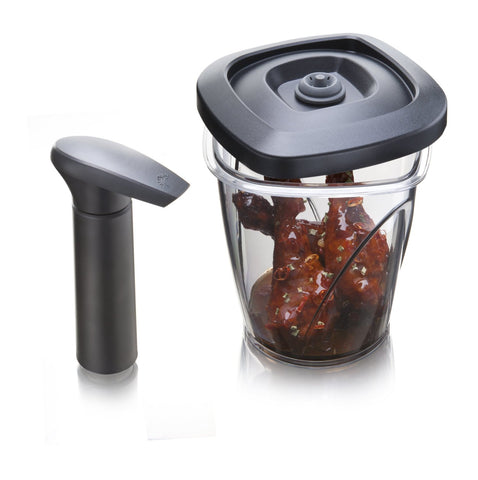 Vacu Vin Instant Marinater Medium Black - 44 oz - includes vacuum pump