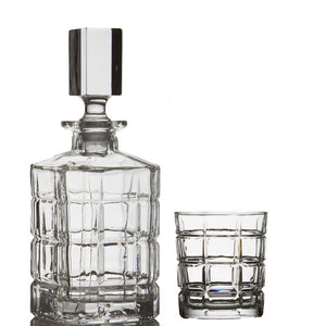 Brilliant - Williams Lead Free Crystal 5 Piece Whisky Set - Whisky Decanter and Whisky Glasses