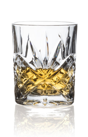 Image of Brilliant - Ashford Lead Free Crystal Clear Old Fashioned Glass Tumbler 10.5oz. (310ml) Set of 4