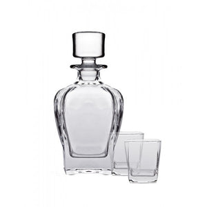 Tandem Whiskey Decanter and Tumblers 3 Piece Set
