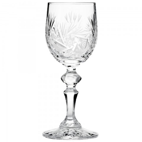 Pinwheel Diamond Stem Port Sherry Glass set of 6