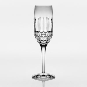 Brilliant - Luxembourg Crystal Clear Champagne Flute Glass 6 oz. (180ml) Set of 4