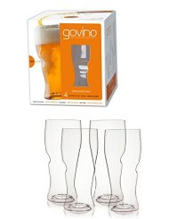 Govino - 16 Ounce Dishwasher Safe Series Beer Glasses, Set of 4