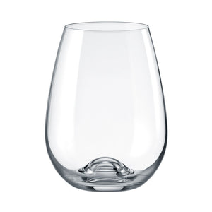 Brilliant - Gastro Lead Free Crystal Stemless Red Wine Glass, 15.5 oz. Set of 6