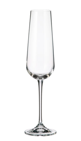 Crystalite Bohemia - Amundsen Champagne Flute Glass 7oz. (220ml) Set of 6