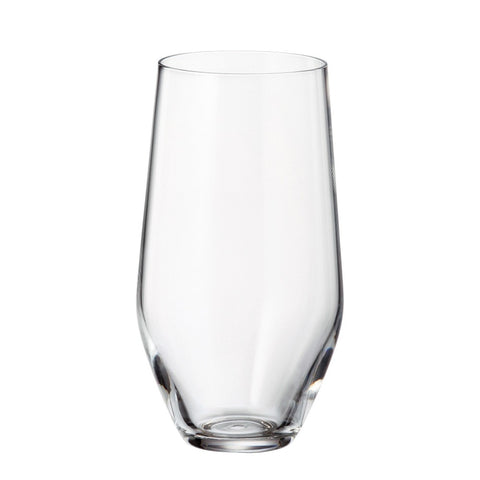 Image of Crystalite Bohemia - Michelle Grus Lead Free Crystal Highball Glass Tumbler, 13.5 oz. Set of 6