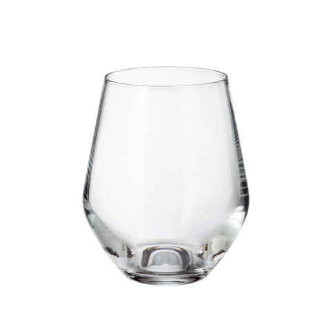 Crystalite Bohemia - Michelle Grus Lead Free Crystal Old Fashioned Glass Tumbler, 12 oz. Set of 6
