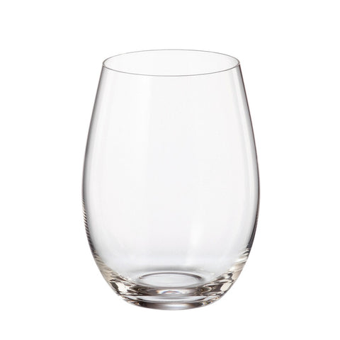 Crystalite Bohemia - Pollo Mergus Lead Free Crystal Large Stemless Wine Glass, 19 oz. Set of 6