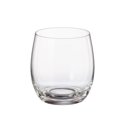 Crystalite Bohemia - Pollo Mergus Lead Free Crystal Stemless Wine Glass, 13.5 oz. Set of 6