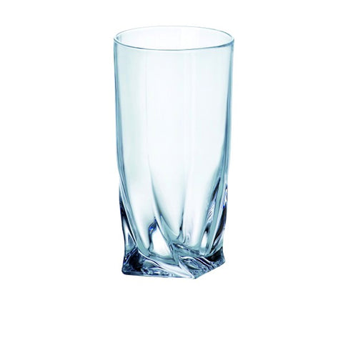Quadro Highball Glasses Set of 6 350ml by Bohemia