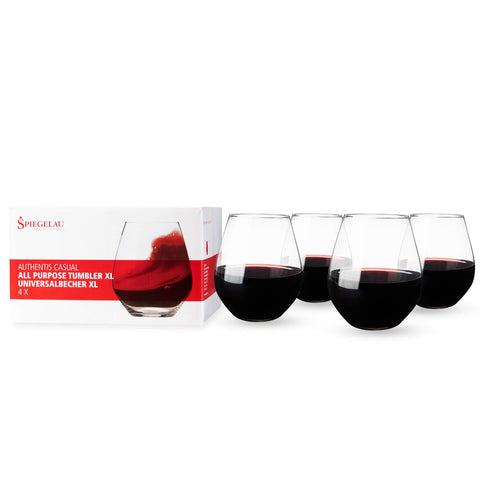 Image of Spiegelau Authentis Casual X-Large Stemless Wine Glass 560ml Set of 4