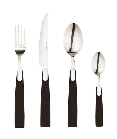 Colorissimo Flatware By Guy Degrenne - 4 pc set Black