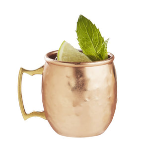 Brilliant - Hammered Moscow Mule Shot Glasses, 2oz. Set of 4