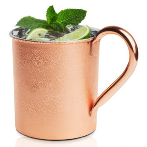 Brilliant - Copper Straight Moscow Mule Mug, 20oz.