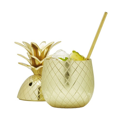 SALE Brass pineapple Ice Bucket Or drink Tumbler /& Brass Straw New Gift Home bar