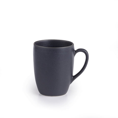 Granito Stoneware Black Mugs 14 Ounces, Set of 4