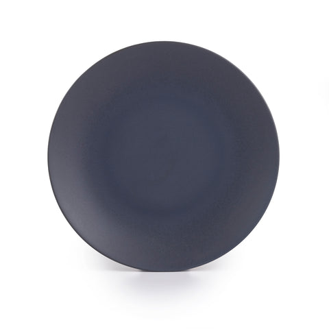 Granito Stoneware Black Dinner Plates 10.6 Inches, Set of 4