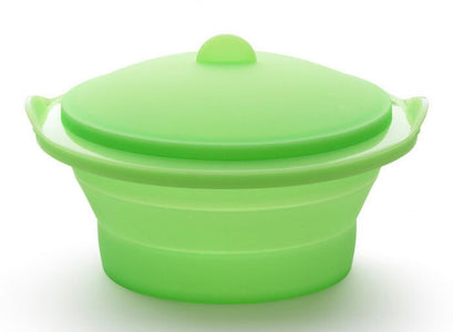 Lékué - Silicone Collapsible Food Steamer 2.5 Quart, Green