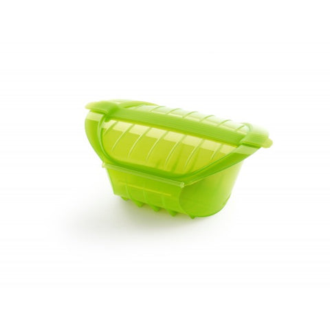 Lékué - Silicone Deep Steamer Case for 3 - 4 Servings, Green