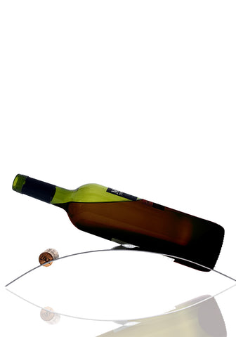 Bel-Air Arc Wine Cradle, Stainless Steel Single Wine Bottle Holder