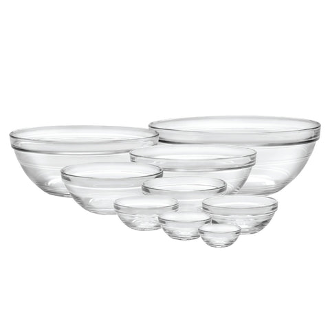 Image of Duralex Made In France Lys Stackable 9-Piece Bowl Set