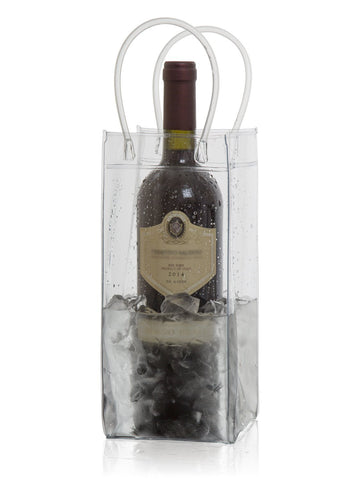 Wine Chiller Ice Bucket Plastic Bag Wine Cooler With Handles