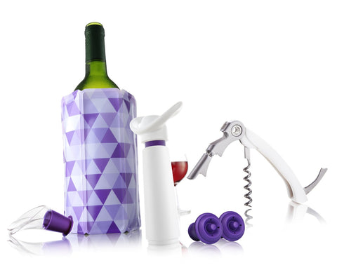 Vacu Vin Gift Set Wine Essentials White/Purple