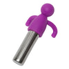 Brilliant - Tea Infuser with Purple Silicone Molded Smiley Top