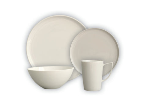 Image of Brilliant - Signature 16 Piece White Porcelain Dinnerware Set, Service for 4