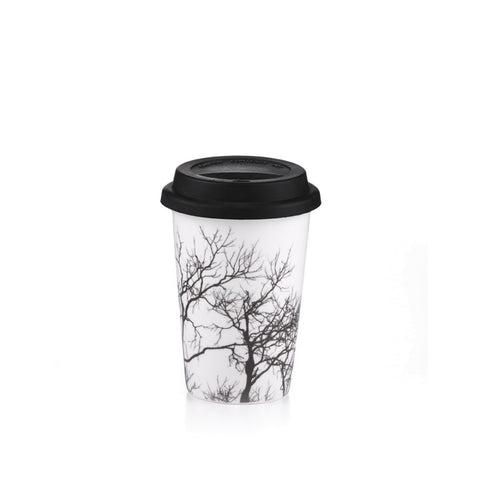 Holiday Autumn Travel Mug with Silicone Lid, 13.5 Oz.