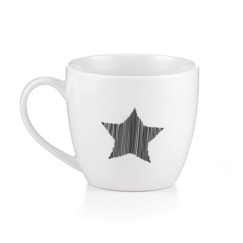 Holiday Star Coffee Mugs for Christmas, 15 Oz. Set of 2