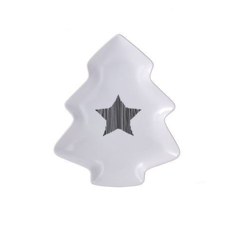 Holiday Star Tree Shaped Platter for Christmas