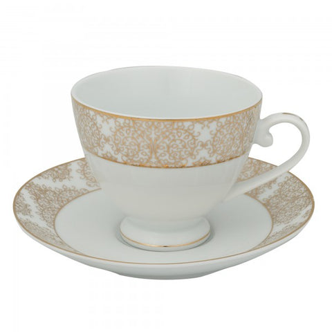 Brilliant - Ritz Gold Tea Cups and Saucers, Set of 6