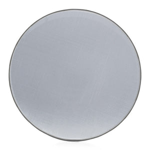 Brilliant - Round Clear Glass Charger Plate with Silver Rim, 13 Inches