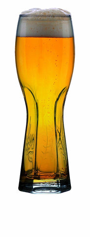 Image of Master Brew Weizen Tall Wheat Beer Glasses for White Beer, 21.8oz. Set of 2