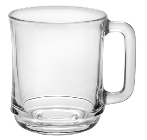 Duralex - Lys Stackable Clear Mug 310 ml (10 7-8 oz)  Set Of 6