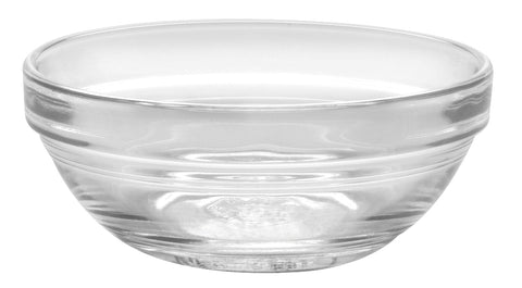 Image of Duralex - Lys Stackable Clear Bowl 9 cm (3 1-2 in)  Set Of 6