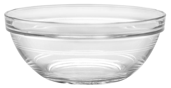Duralex - Lys Stackable Clear Bowl 17 cm (6 3-4 in)Set Of 6