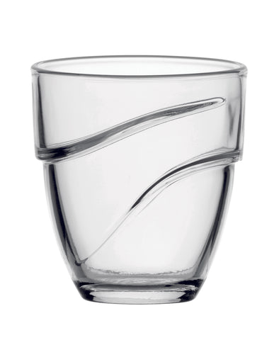 Duralex - Wave  Clear Tumbler 16 cl (5 5/8 oz) S/4