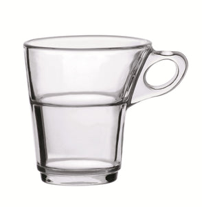 Duralex - Caprice Clear Stackable Glass Coffee Cup 220 ml. ( 7 3/4 oz. ) Set of 6