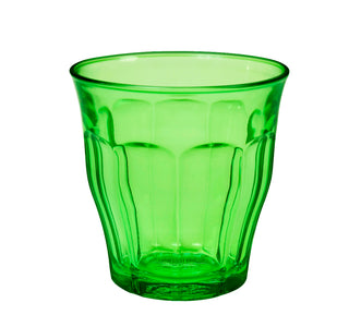 Duralex - Picardie Colored Tumbler Green Drinking Glass, 250 ml. 8 3/4 oz. Set of 6