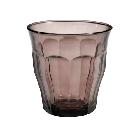 Image of Duralex - Picardie Colored Tumbler Grey Drinking Glass, 250 ml. 8 3/4 oz. Set of 6
