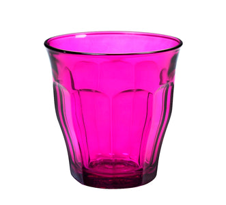 Duralex - Picardie Colored Tumbler Purple Drinking Glass, 250 ml. 8 3/4 oz. Set of 6
