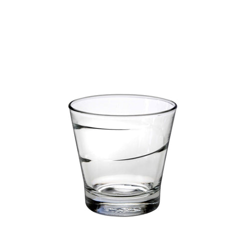 Duralex Spiral Tumbler 7 Ounces, Set of 6 Clear Drinking Glasses