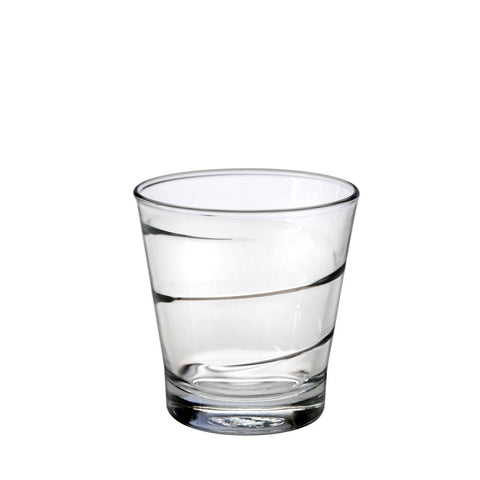 Duralex Spiral Tumbler 8.5 Ounces, Set of 6 Clear Drinking Glasses