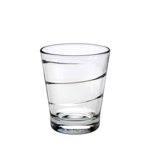Duralex Spiral Tumbler 10 Ounces, Set of 6 Clear Drinking Glasses